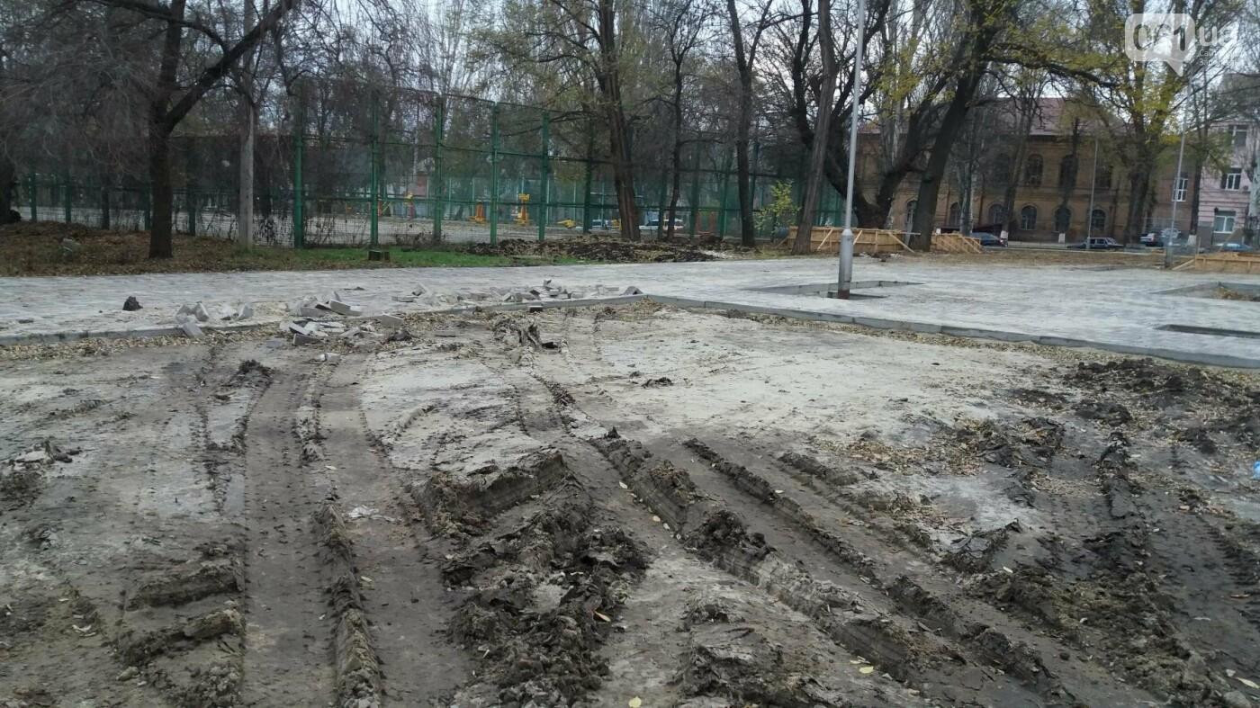 В Запорожье подрядчики разрушили бетономешалкой уже отремонтированный тротуар, – ФОТОРЕПОРТАЖ, фото-9