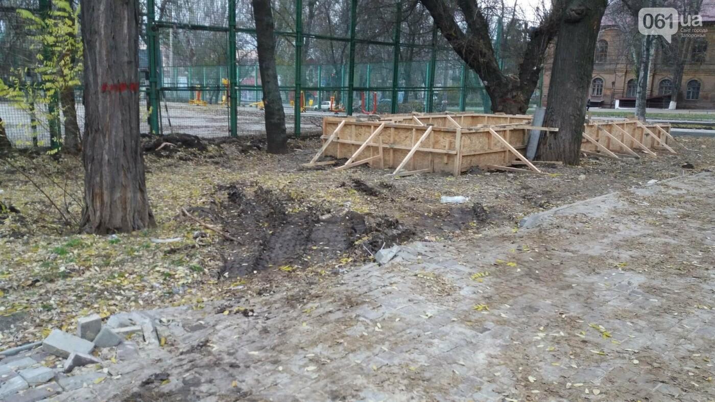 В Запорожье подрядчики разрушили бетономешалкой уже отремонтированный тротуар, – ФОТОРЕПОРТАЖ, фото-6
