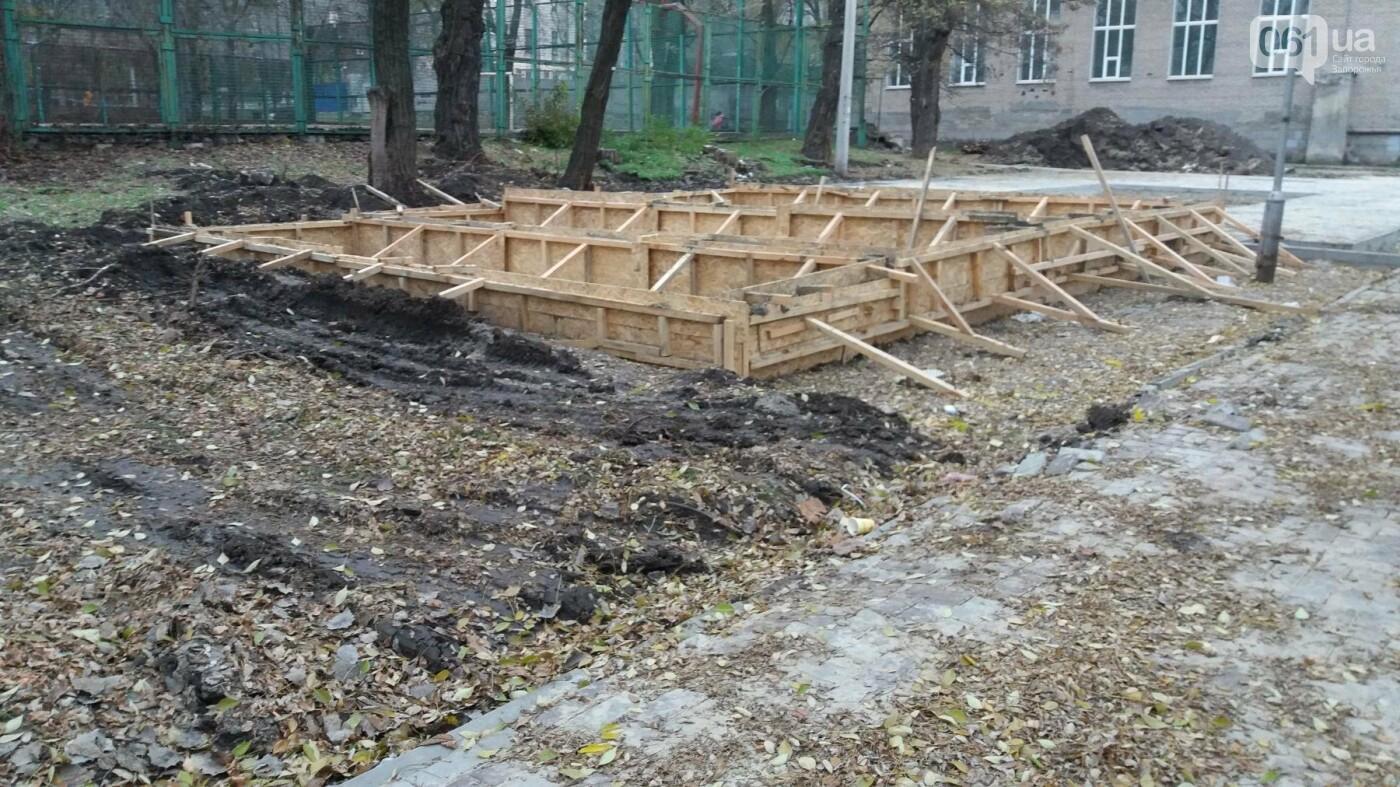 В Запорожье подрядчики разрушили бетономешалкой уже отремонтированный тротуар, – ФОТОРЕПОРТАЖ, фото-12