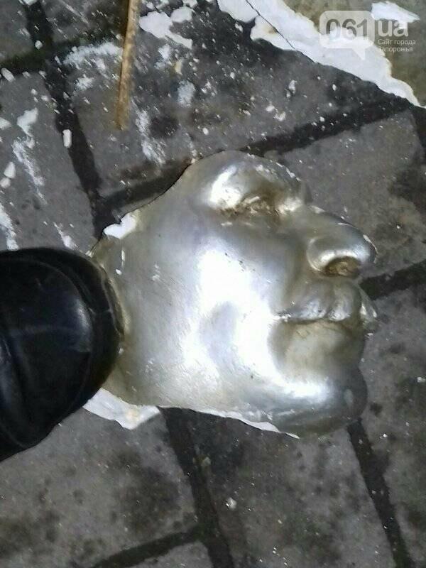В Запорожье в День памяти жертв Голодомора разбили скандальный памятник Сталину, - ФОТО , фото-3