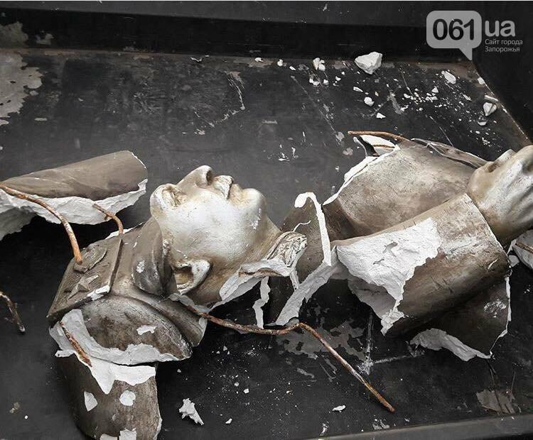 В Запорожье в День памяти жертв Голодомора разбили скандальный памятник Сталину, - ФОТО , фото-2