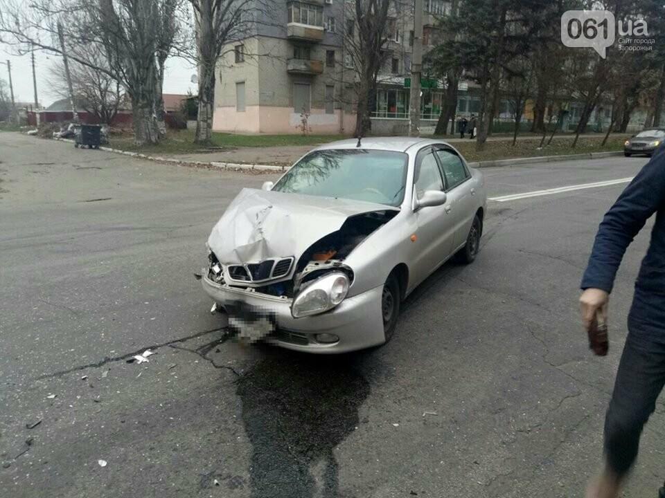 "В Запорожье столкнулись два ""Daewoo"", - ФОТО, фото-1"