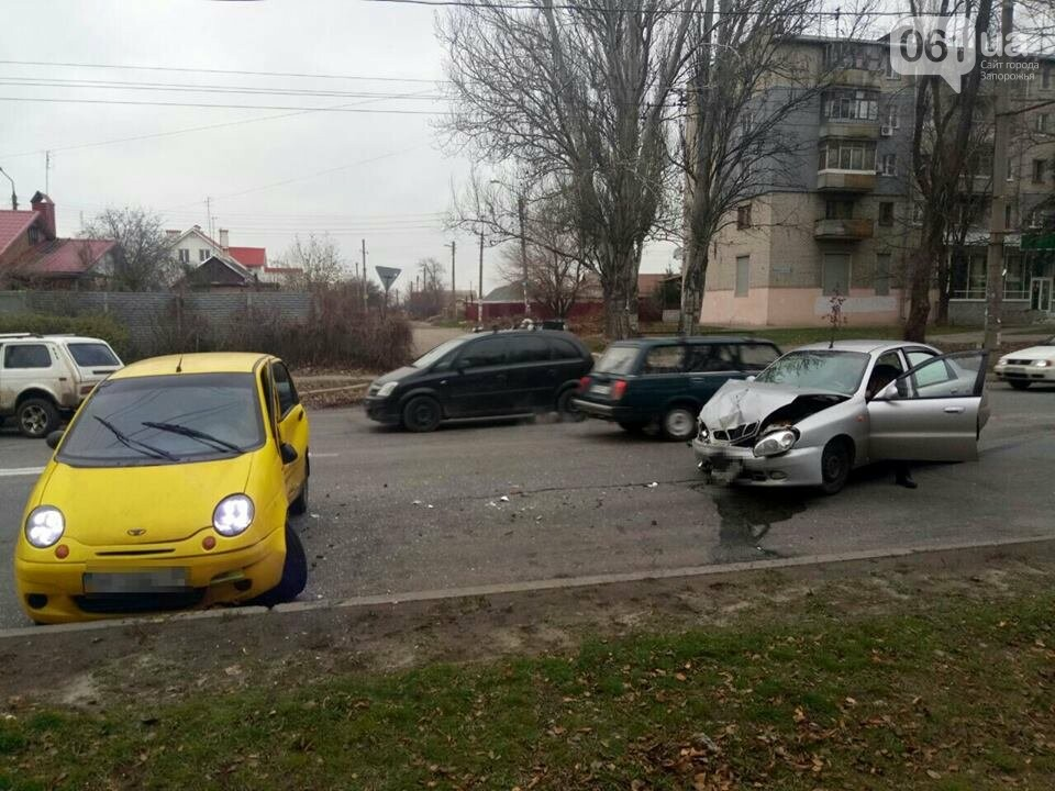 "В Запорожье столкнулись два ""Daewoo"", - ФОТО, фото-3"