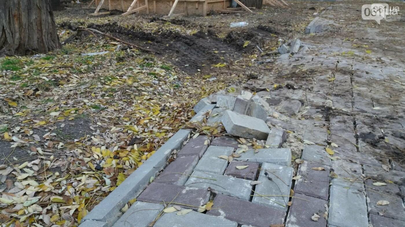 После скандала в СМИ подрядчики восстановили разрушенный бетономешалкой плиточный тротуар, — ФОТОРЕПОРТАЖ, фото-5