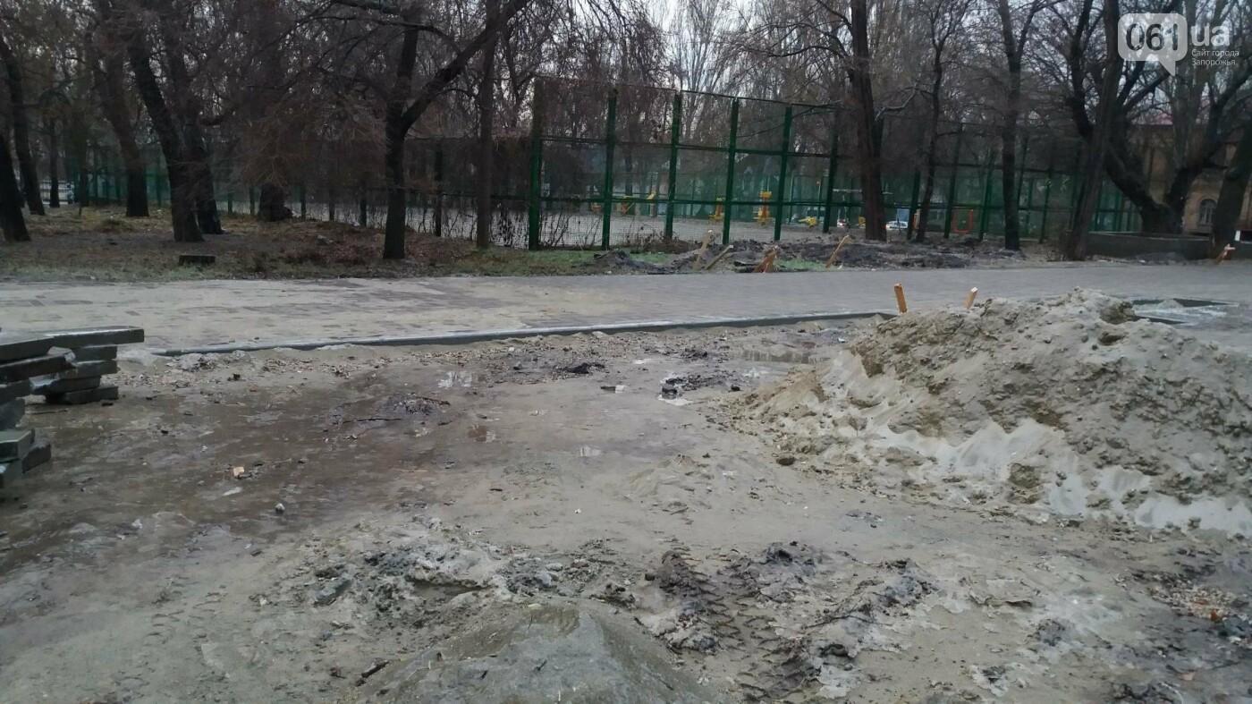 После скандала в СМИ подрядчики восстановили разрушенный бетономешалкой плиточный тротуар, — ФОТОРЕПОРТАЖ, фото-6