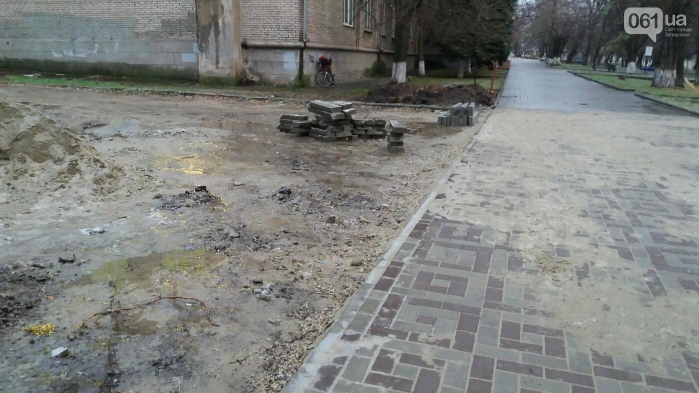 После скандала в СМИ подрядчики восстановили разрушенный бетономешалкой плиточный тротуар, — ФОТОРЕПОРТАЖ, фото-8