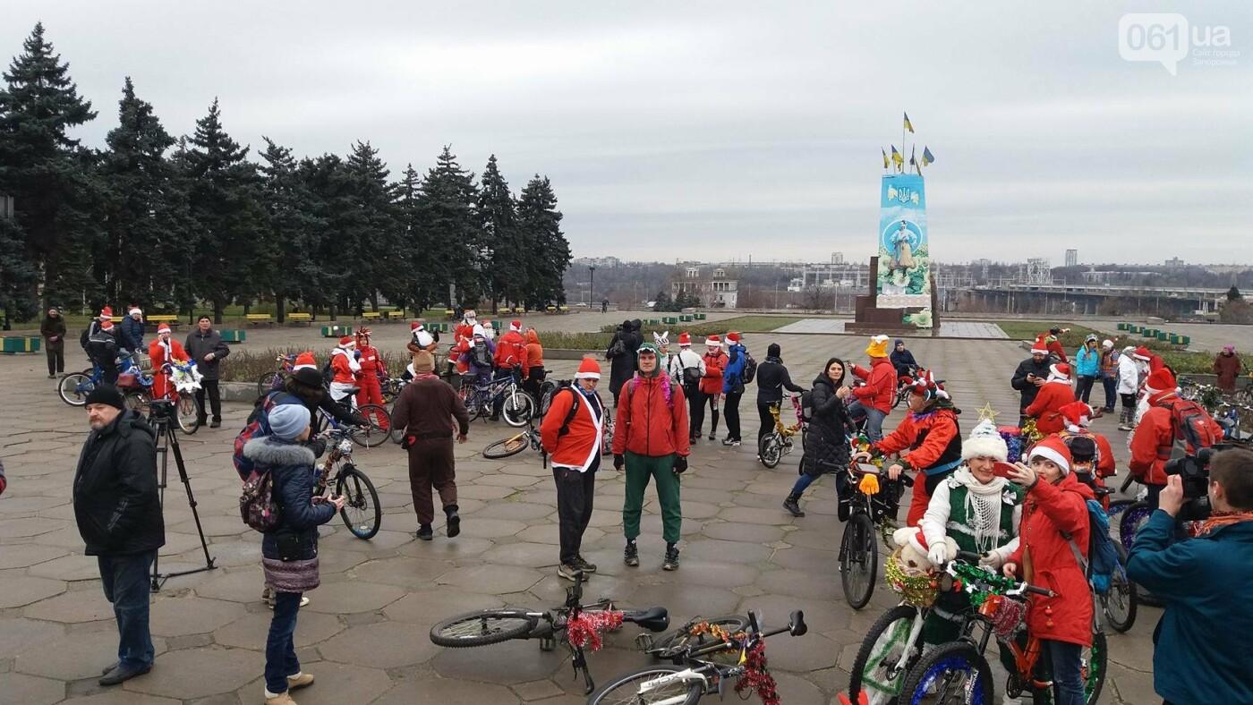 «Дед Мороз рулит!»: запорожские велосипедисты устроили новогодний велопробег, – ФОТОРЕПОРТАЖ, фото-1