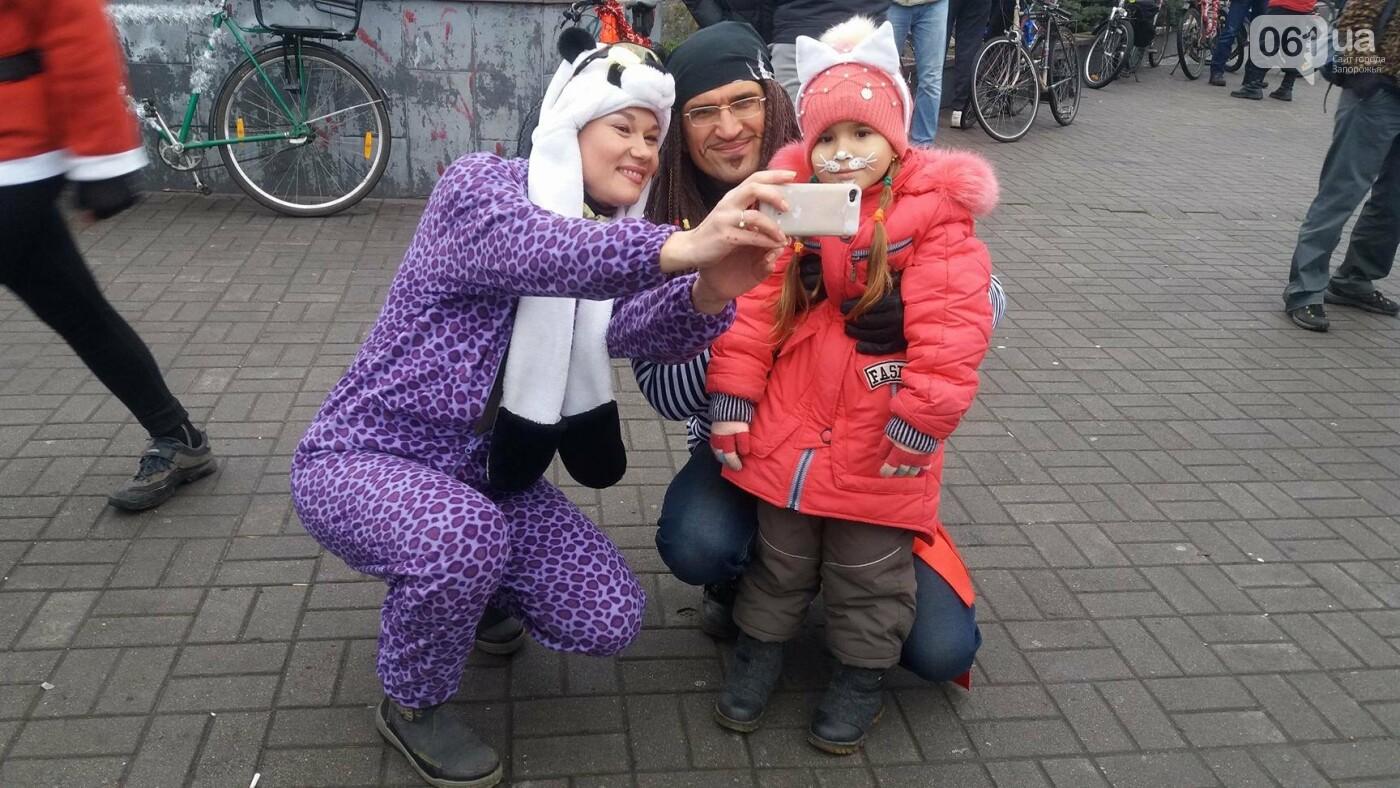 «Дед Мороз рулит!»: запорожские велосипедисты устроили новогодний велопробег, – ФОТОРЕПОРТАЖ, фото-8