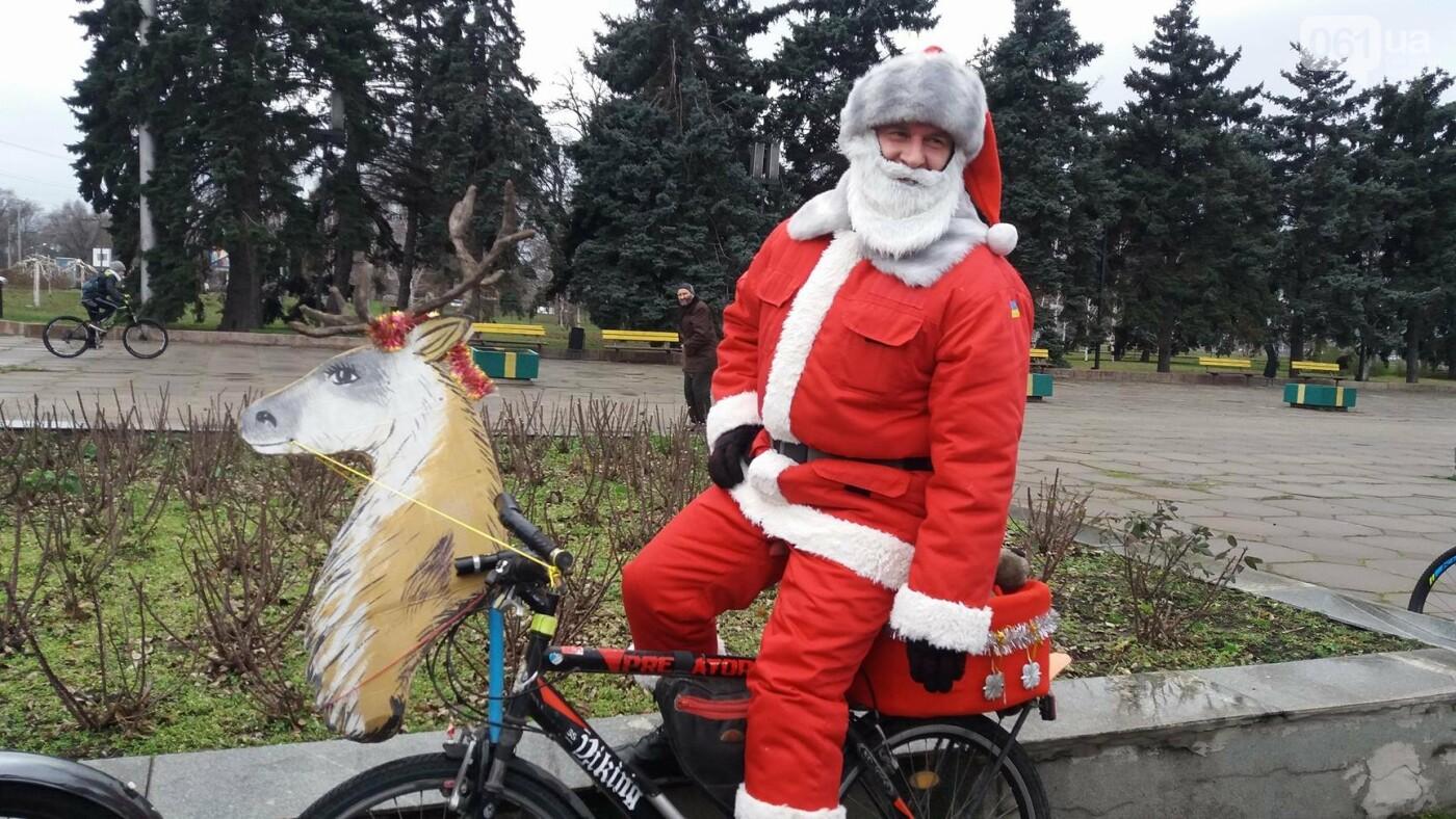 «Дед Мороз рулит!»: запорожские велосипедисты устроили новогодний велопробег, – ФОТОРЕПОРТАЖ, фото-2