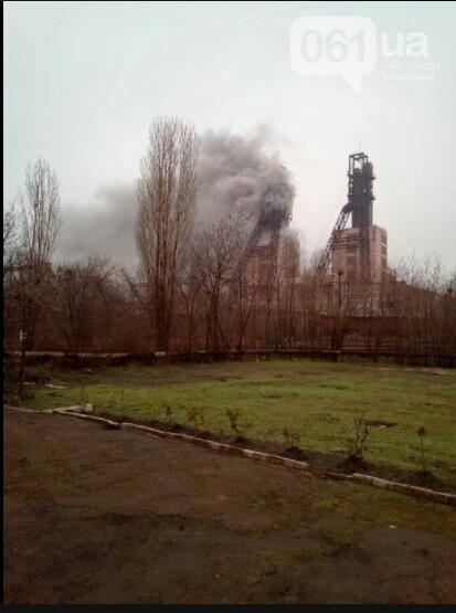 В Запорожской области на шахте произошел пожар, под землей находятся 80 человек, - ФОТО, ВИДЕО (обновлено), фото-1
