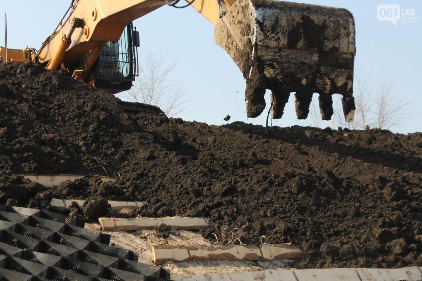 В Запорожье продолжают строить новый парк возле Радуги: что уже сделали подрядчики, – ФОТОРЕПОРТАЖ, фото-8
