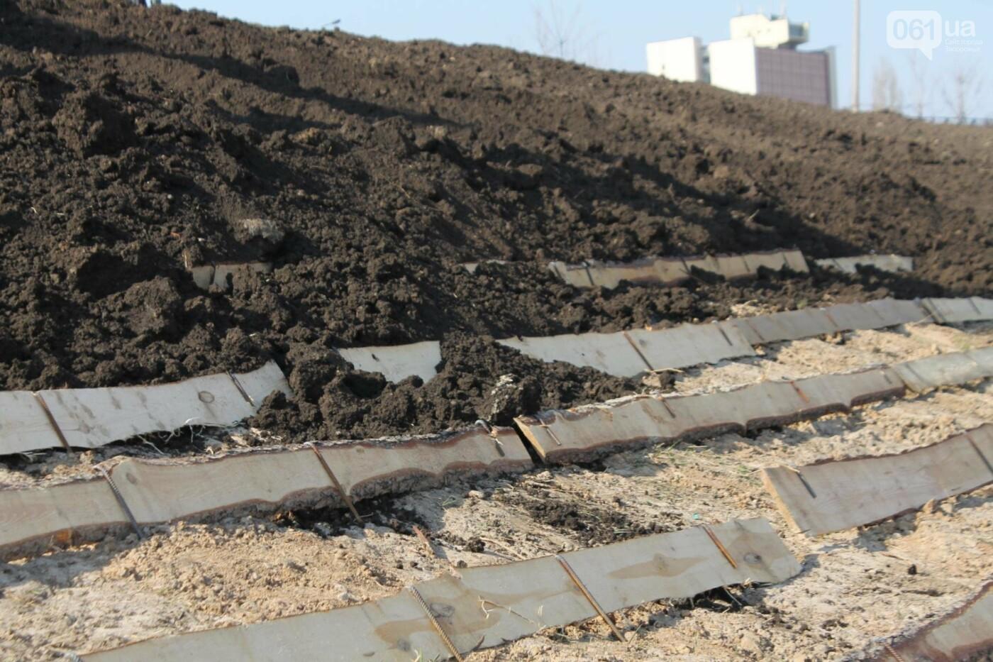 В Запорожье продолжают строить новый парк возле Радуги: что уже сделали подрядчики, – ФОТОРЕПОРТАЖ, фото-9