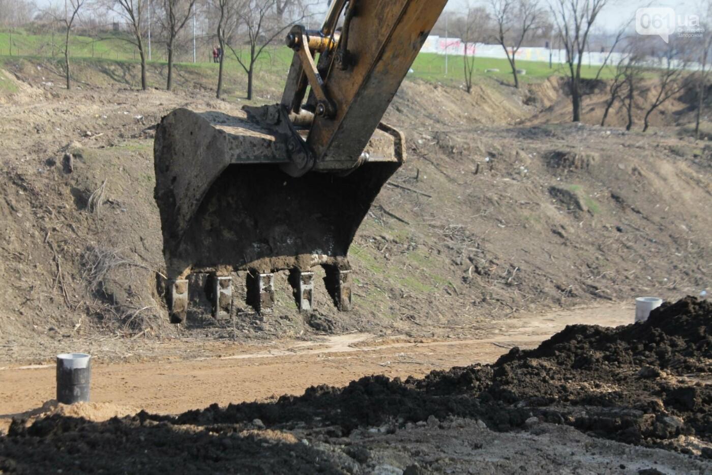 В Запорожье продолжают строить новый парк возле Радуги: что уже сделали подрядчики, – ФОТОРЕПОРТАЖ, фото-13