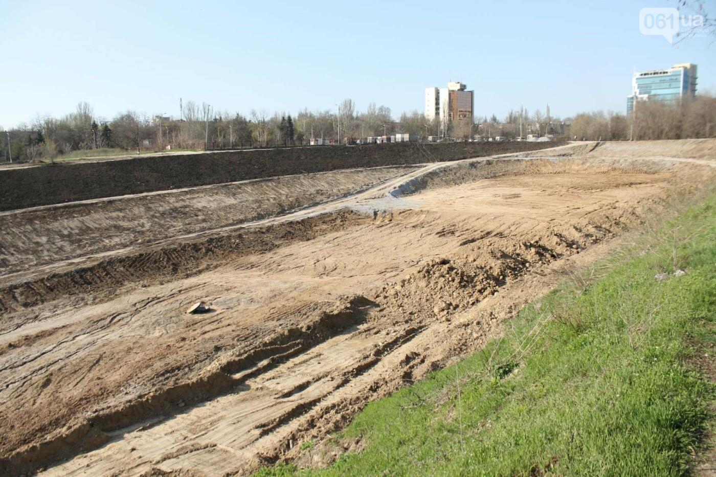 В Запорожье продолжают строить новый парк возле Радуги: что уже сделали подрядчики, – ФОТОРЕПОРТАЖ, фото-3
