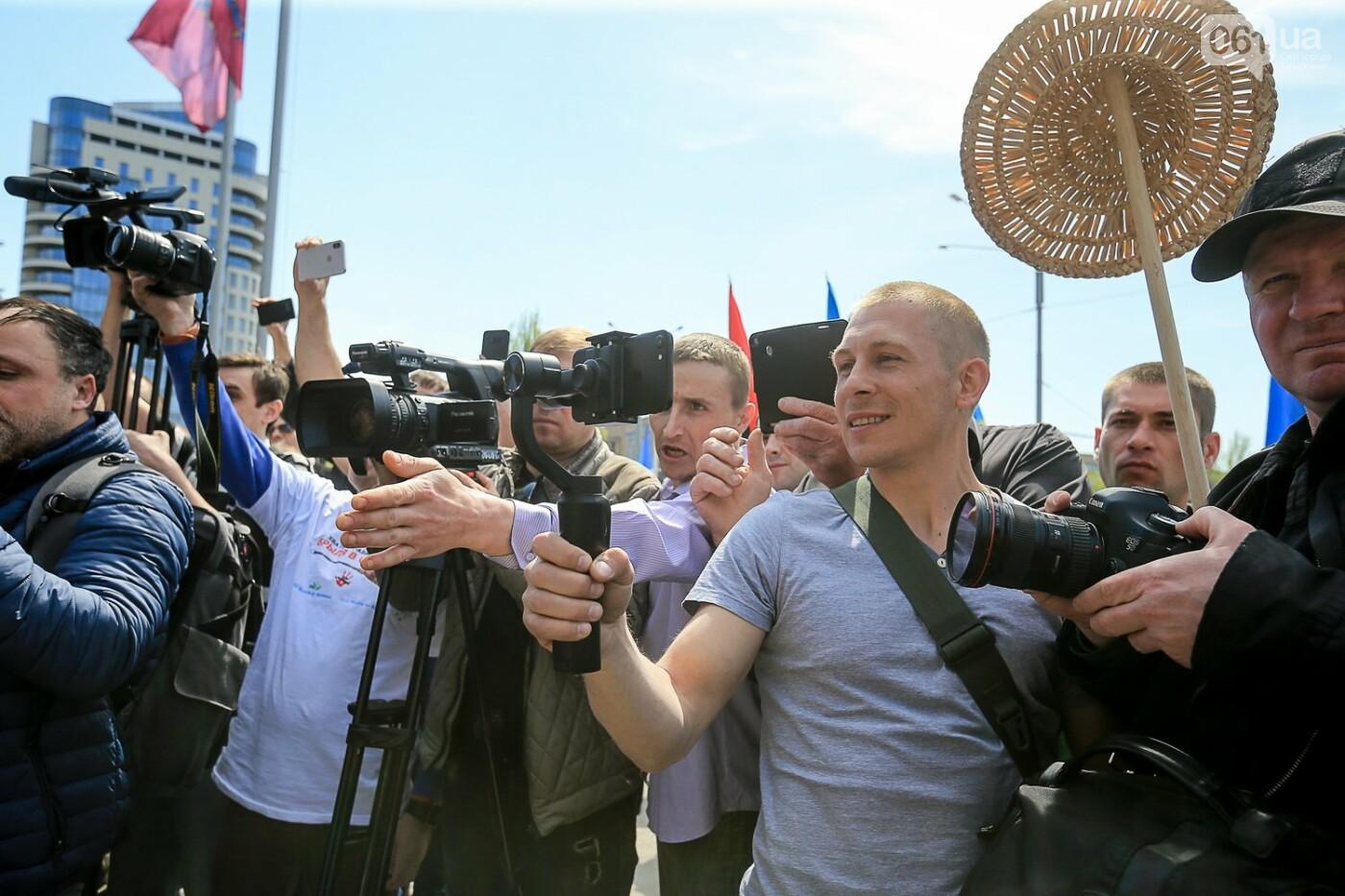 «Бычество» и «пошел ты»: весь митинг под Запорожской ОГА за одну минуту, - ВИДЕО, ФОТО, фото-9