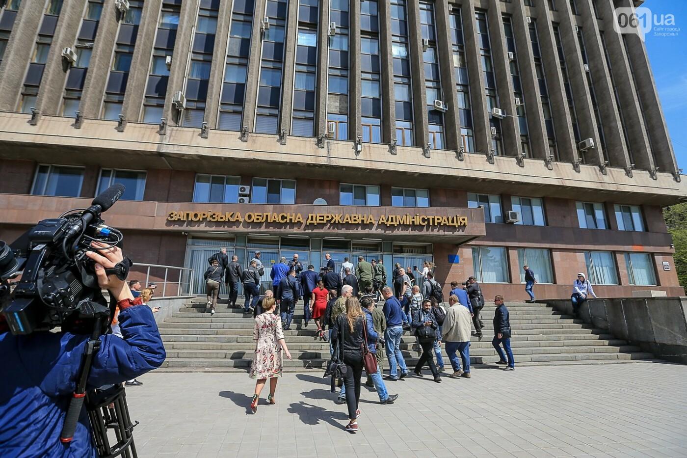 «Бычество» и «пошел ты»: весь митинг под Запорожской ОГА за одну минуту, - ВИДЕО, ФОТО, фото-14