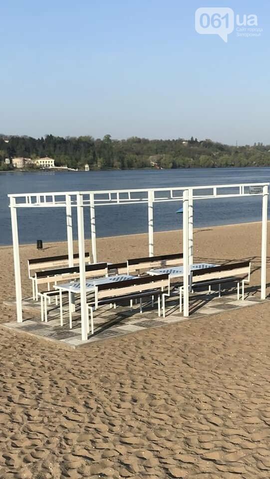 На центральном пляже в Запорожье обустроили шахматную зону, как она выглядит, фото-2