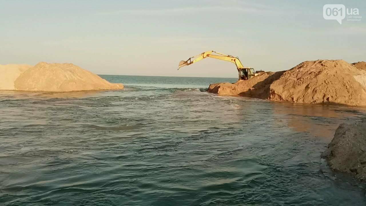 Канал, соединяющий Азовское море с Молочным лиманом, открыли, - ВИДЕО, фото-1