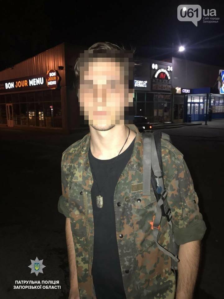 В Запорожье парни пытались украсть секцию светофора, - ФОТО, фото-1