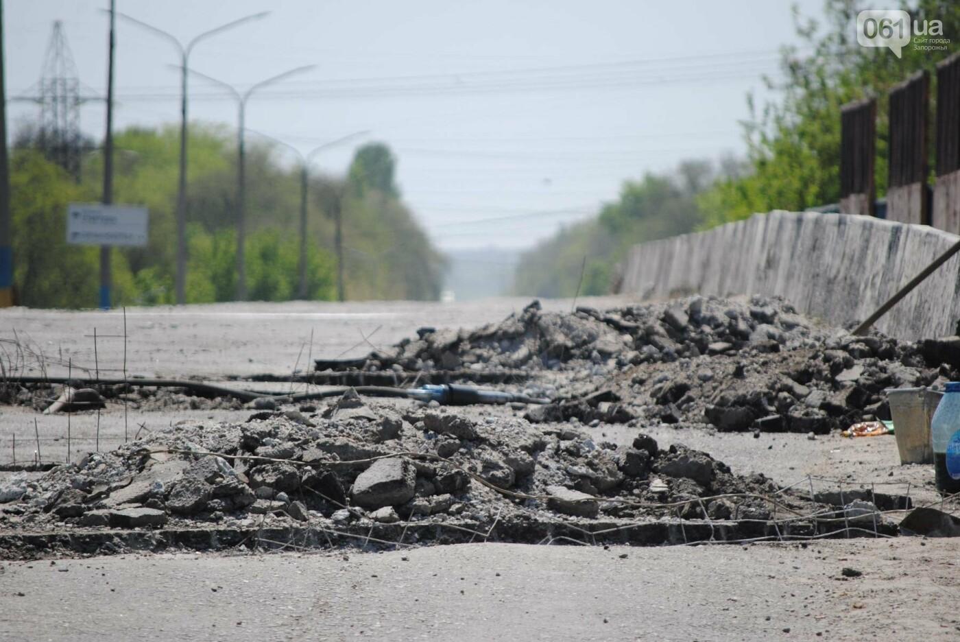 Ремонт моста на трассе в Запорожье: сначала мешали дожди, теперь — жара, - ФОТО, фото-12
