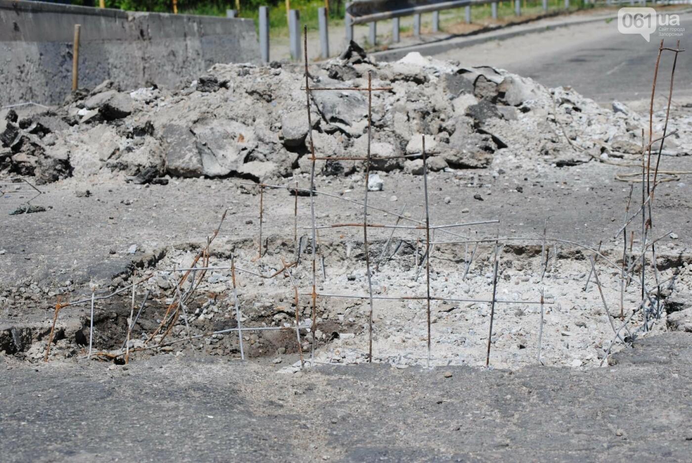 Ремонт моста на трассе в Запорожье: сначала мешали дожди, теперь — жара, - ФОТО, фото-11
