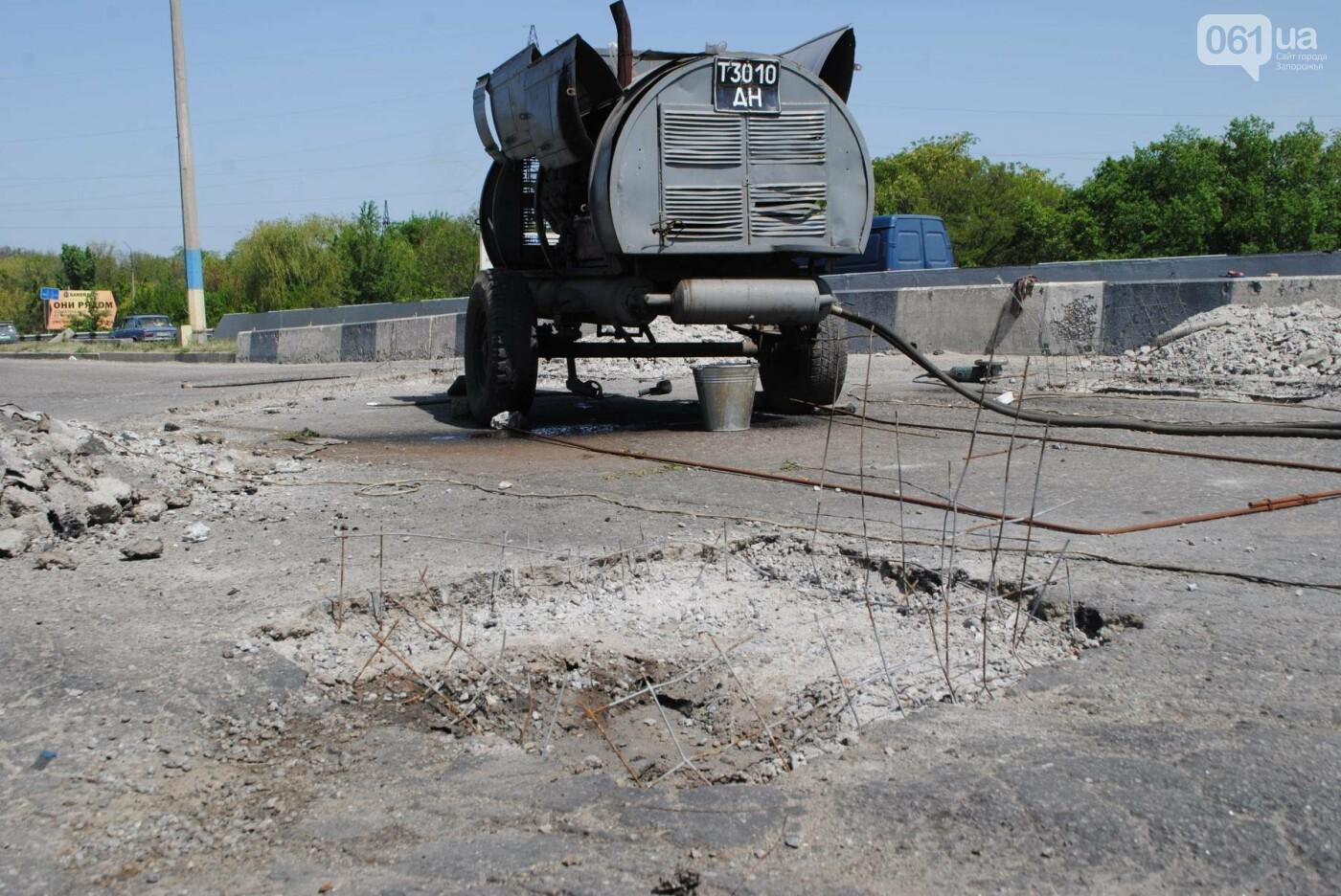 Ремонт моста на трассе в Запорожье: сначала мешали дожди, теперь — жара, - ФОТО, фото-10