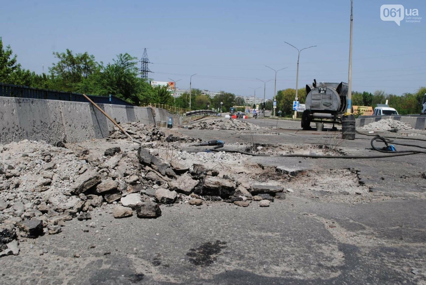 Ремонт моста на трассе в Запорожье: сначала мешали дожди, теперь — жара, - ФОТО, фото-7