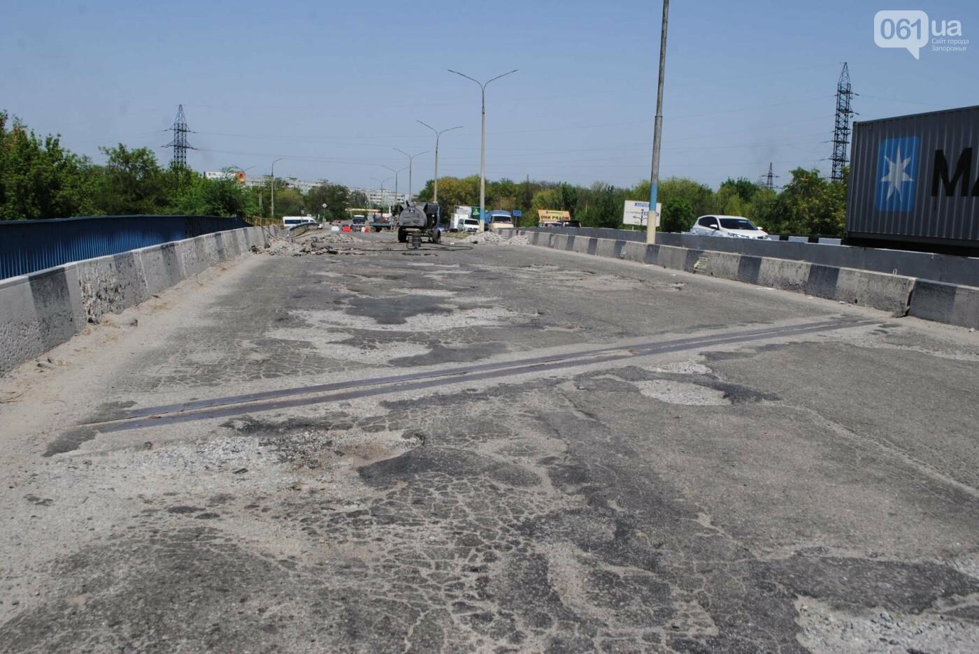 Ремонт моста на трассе в Запорожье: сначала мешали дожди, теперь — жара, - ФОТО, фото-6
