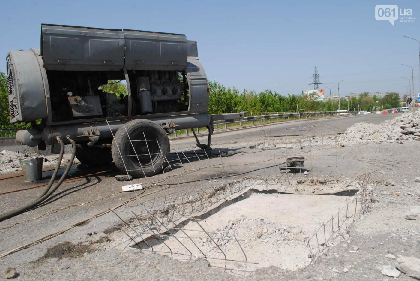 Ремонт моста на трассе в Запорожье: сначала мешали дожди, теперь — жара, - ФОТО, фото-2