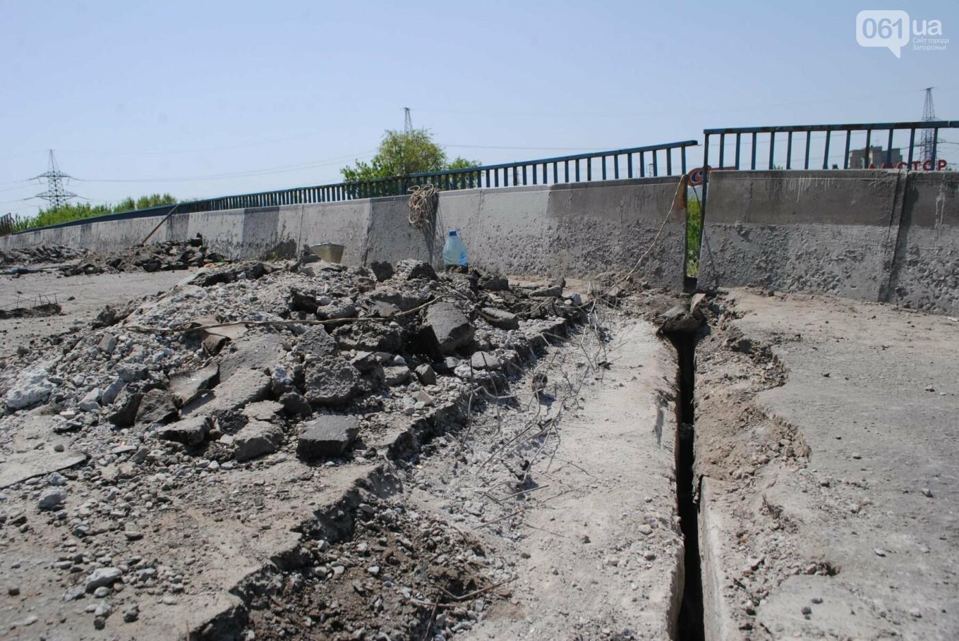 Ремонт моста на трассе в Запорожье: сначала мешали дожди, теперь — жара, - ФОТО, фото-1