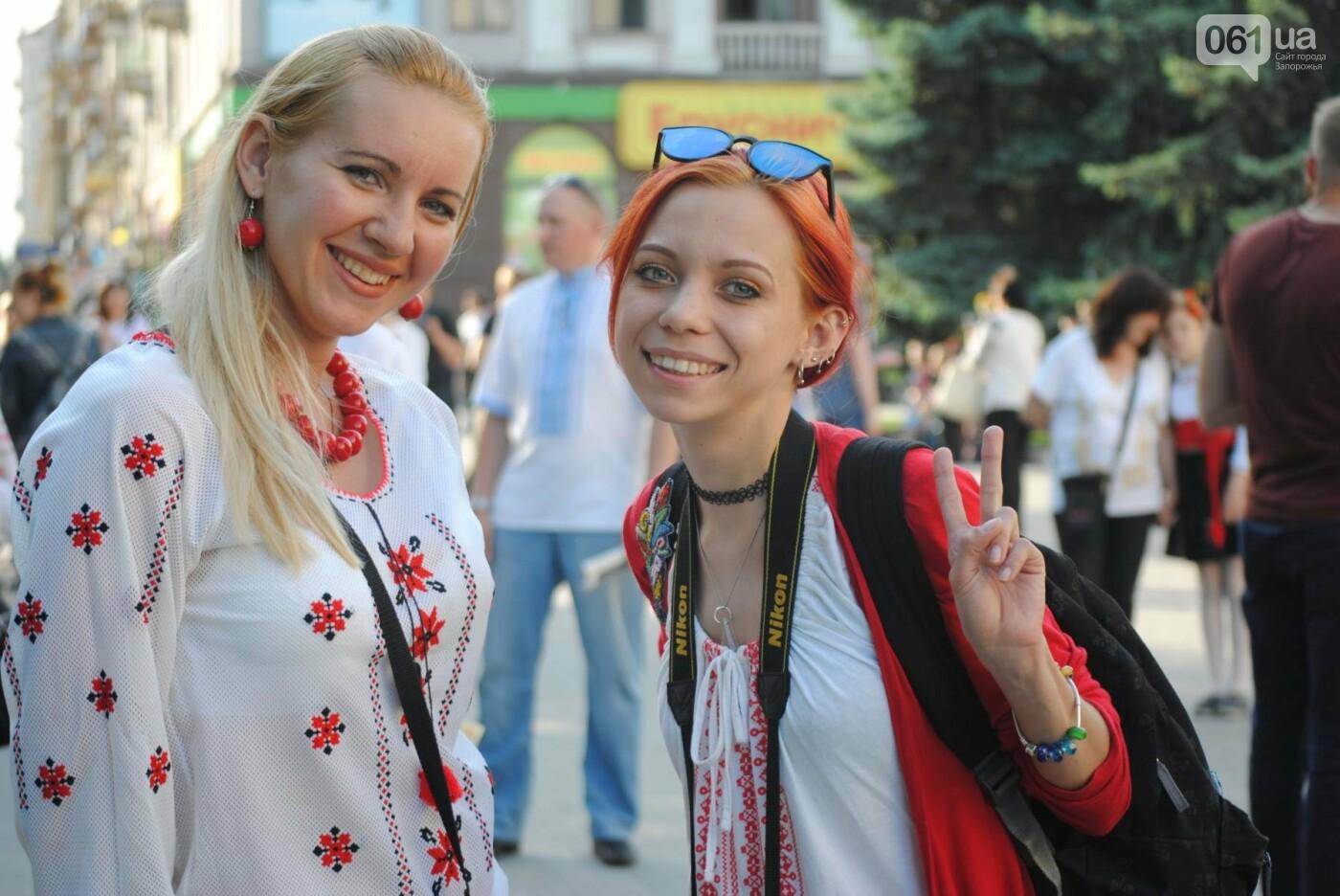 Несколько сотен запорожцев приняли участие в Марше вышиванок, - ФОТОРЕПОРТАЖ, фото-3