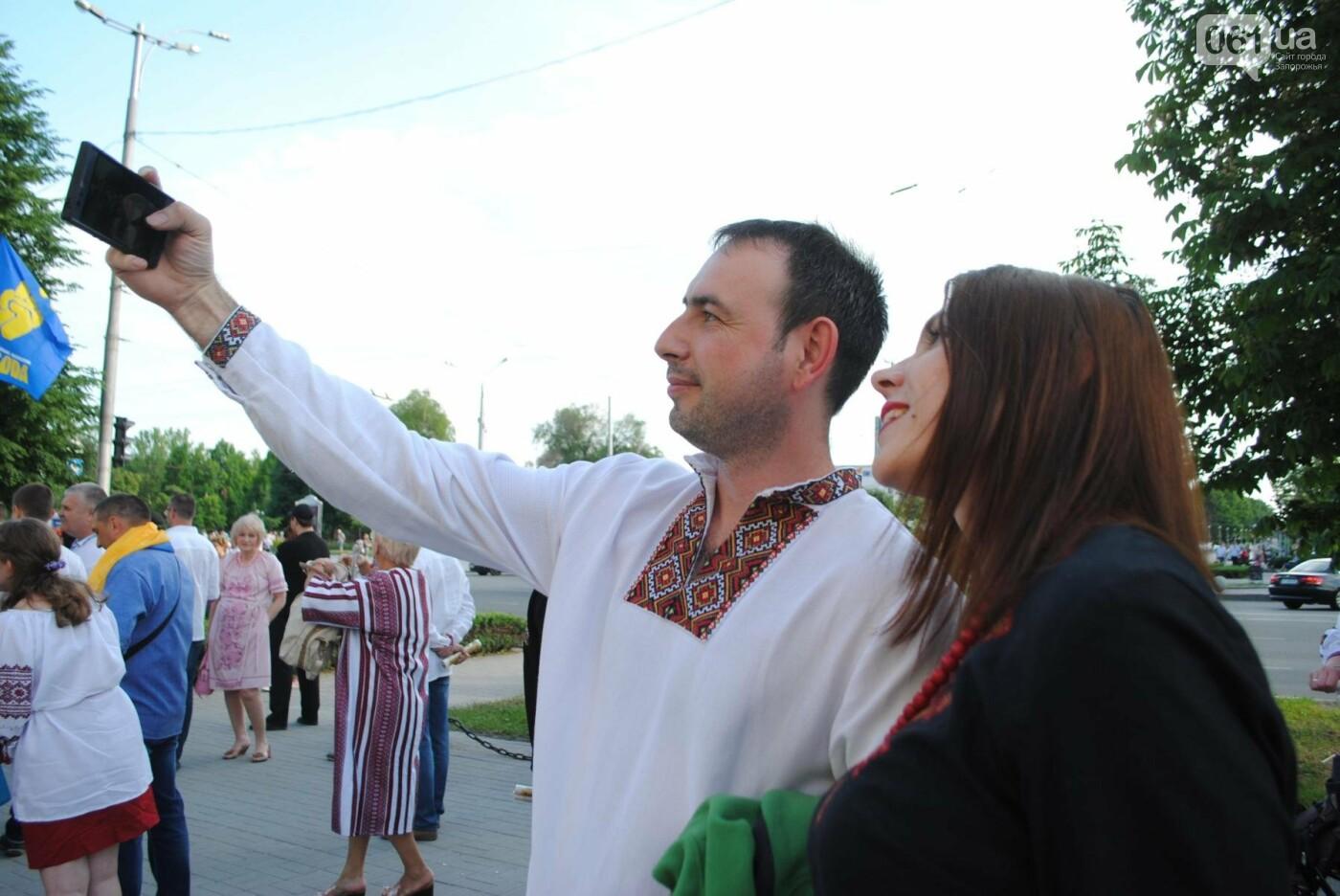Несколько сотен запорожцев приняли участие в Марше вышиванок, - ФОТОРЕПОРТАЖ, фото-2