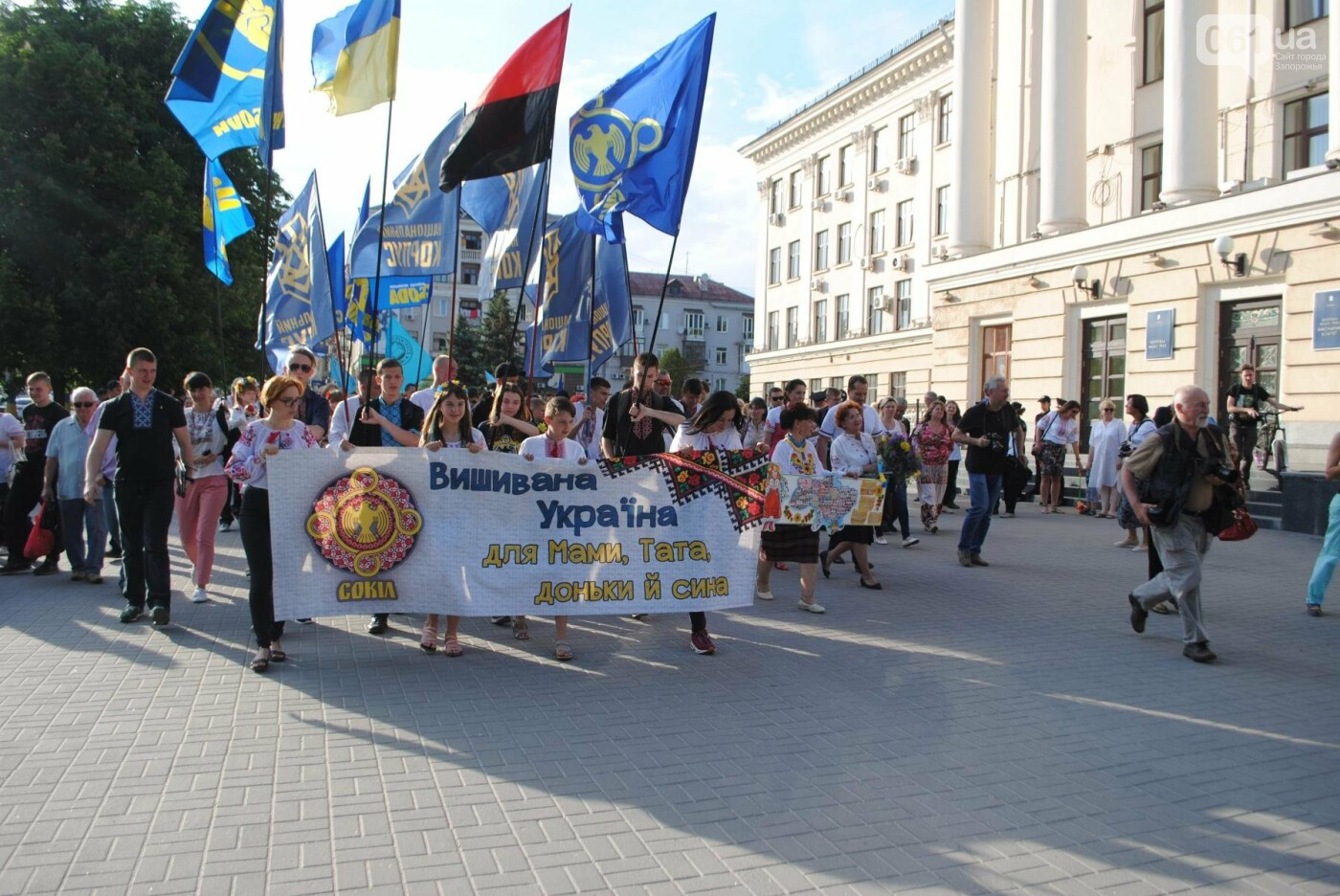 Несколько сотен запорожцев приняли участие в Марше вышиванок, - ФОТОРЕПОРТАЖ, фото-6