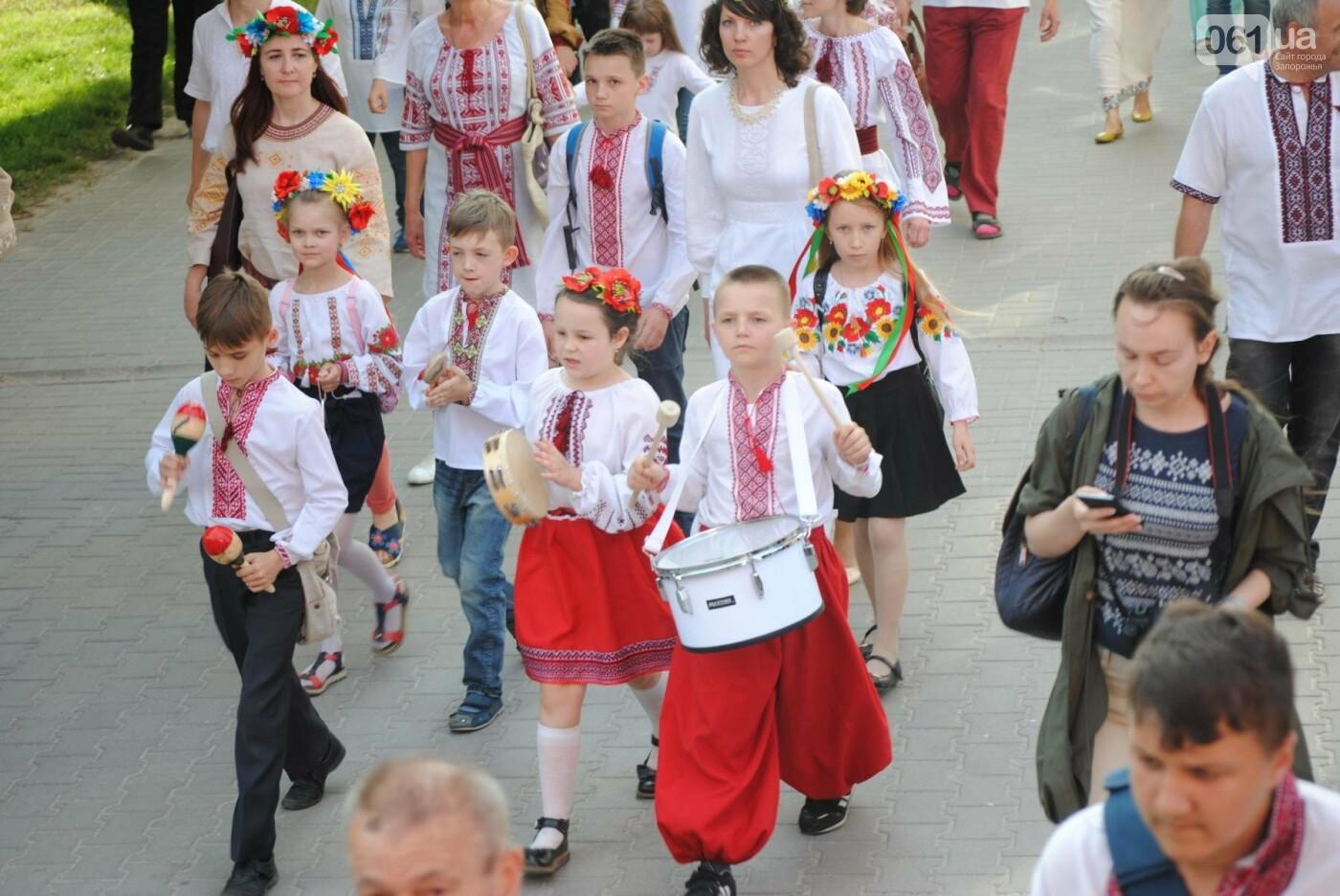Несколько сотен запорожцев приняли участие в Марше вышиванок, - ФОТОРЕПОРТАЖ, фото-9
