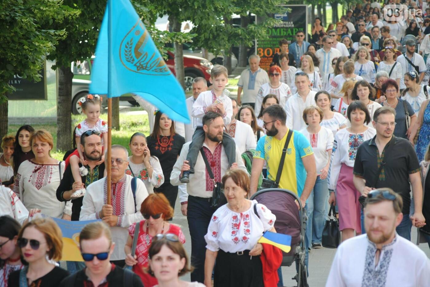 Несколько сотен запорожцев приняли участие в Марше вышиванок, - ФОТОРЕПОРТАЖ, фото-13