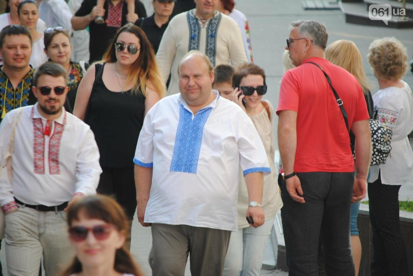 Несколько сотен запорожцев приняли участие в Марше вышиванок, - ФОТОРЕПОРТАЖ, фото-14
