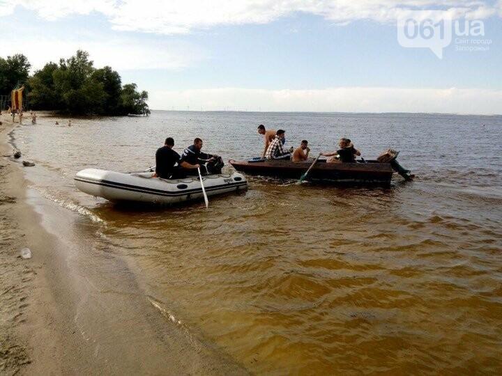В Энергодаре на островах спасали мужчин: их лодка утонула, - ФОТО, фото-1