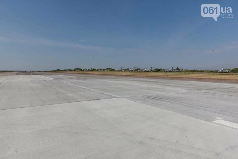 Запорожский аэропорт возобновляет работу: первоочередной ремонт взлетной полосы закончили, - ФОТО, фото-1