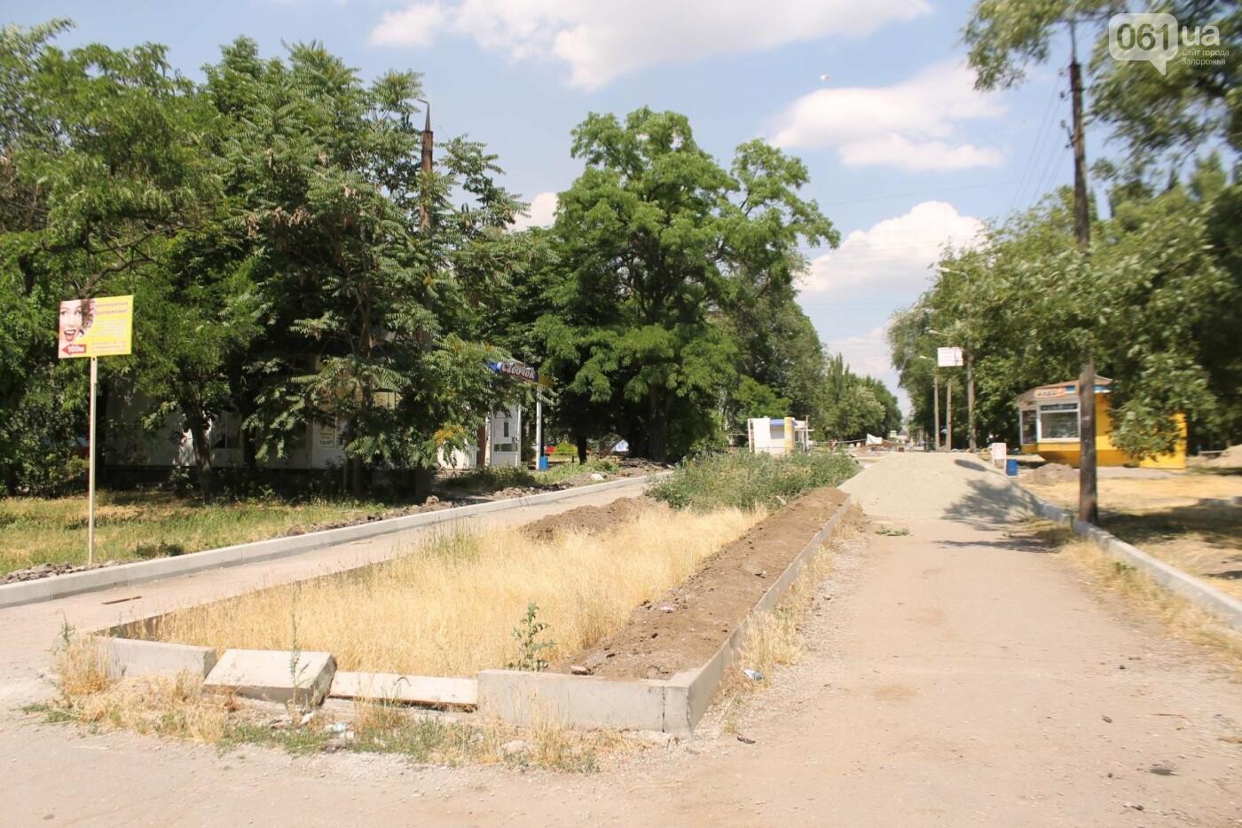 На Якова Новицкого в Запорожье возобновили реконструкцию пешеходной аллеи: обещают закончить до конца лета, – ФОТОРЕПОРТАЖ, фото-18