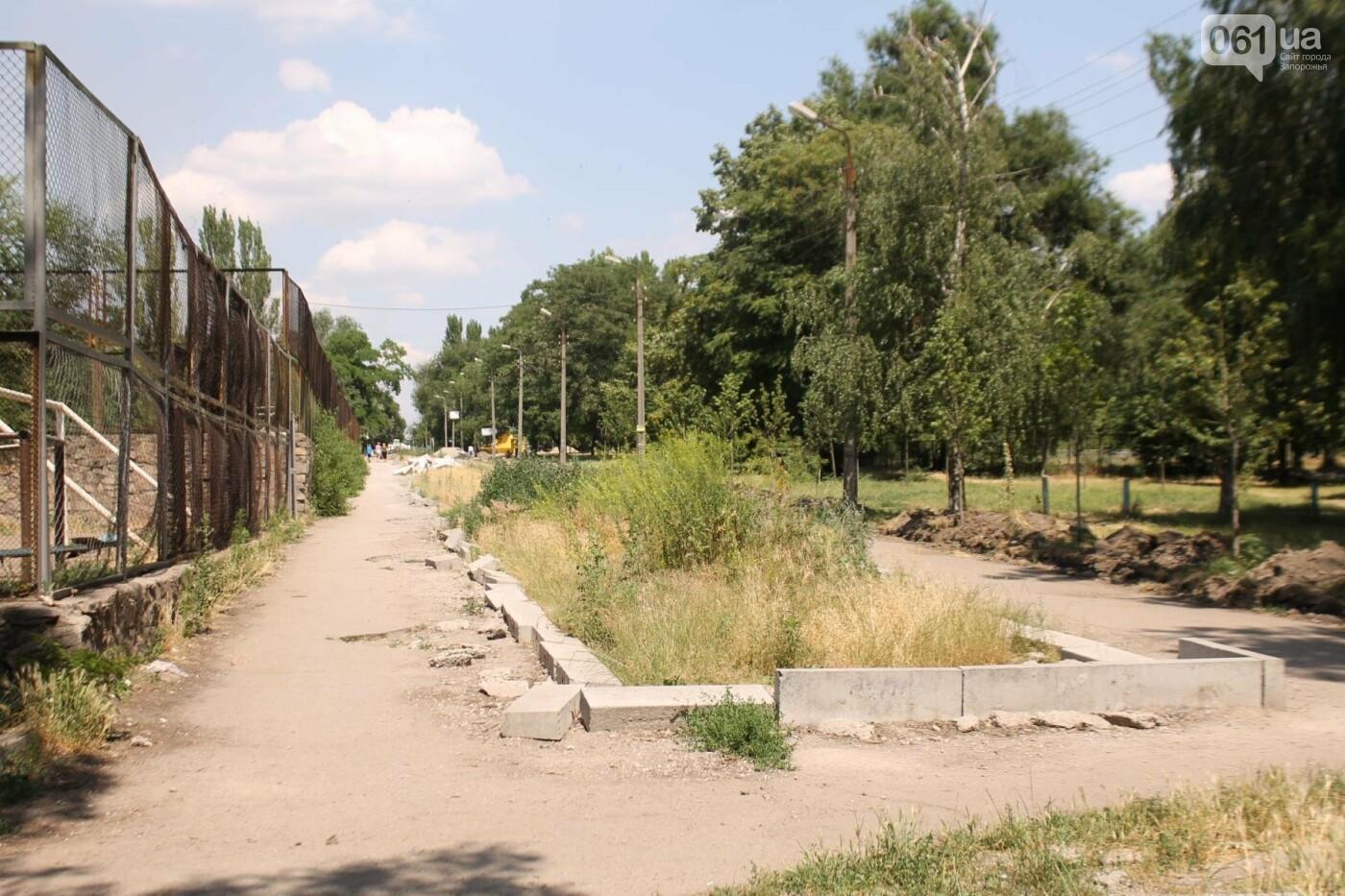 На Якова Новицкого в Запорожье возобновили реконструкцию пешеходной аллеи: обещают закончить до конца лета, – ФОТОРЕПОРТАЖ, фото-7
