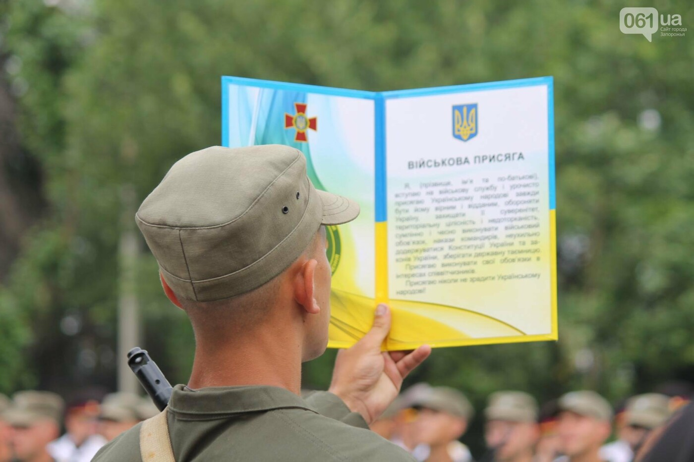В Запорожье новобранцы Нацгвардии приняли присягу на верность Украине, – ФОТОРЕПОРТАЖ, фото-6