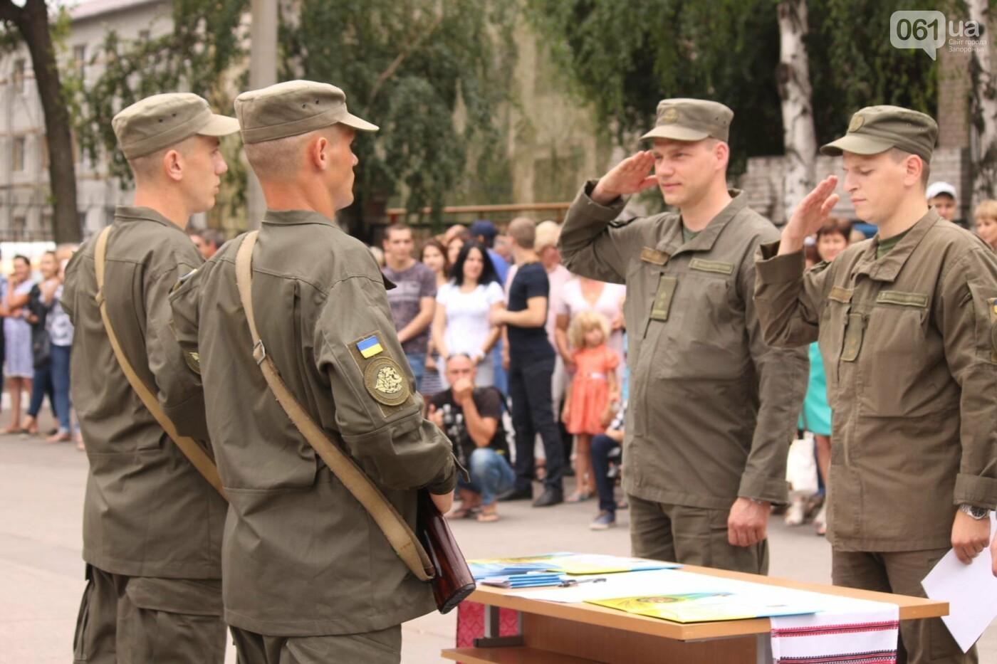 В Запорожье новобранцы Нацгвардии приняли присягу на верность Украине, – ФОТОРЕПОРТАЖ, фото-11