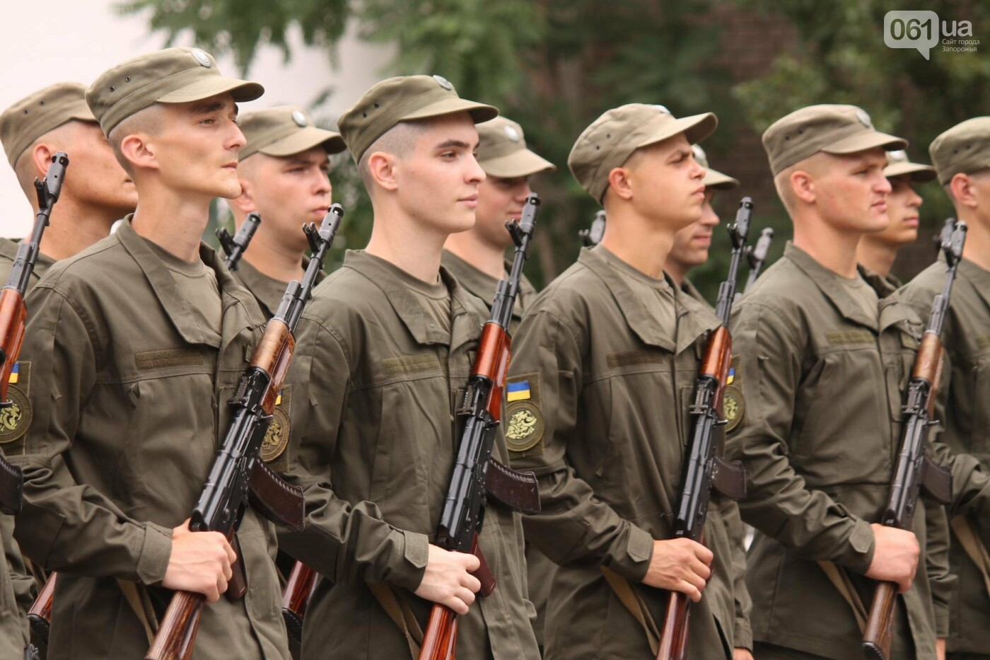 В Запорожье новобранцы Нацгвардии приняли присягу на верность Украине, – ФОТОРЕПОРТАЖ, фото-3