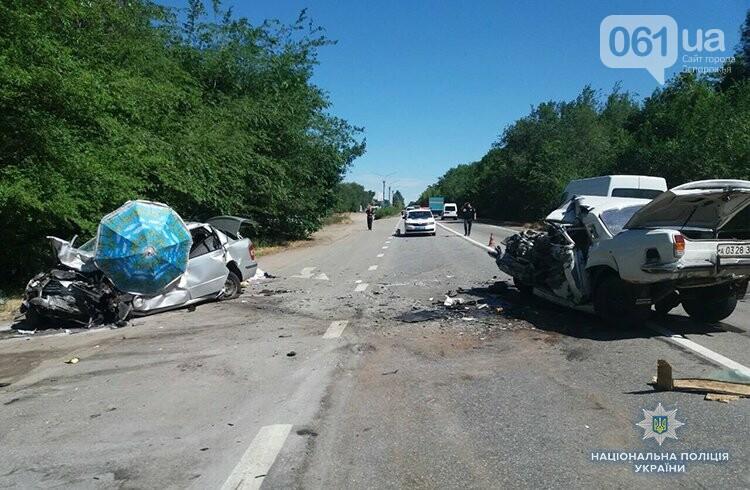 В Запорожской области на трассе столкнулись два авто - три человека погибли, фото-2
