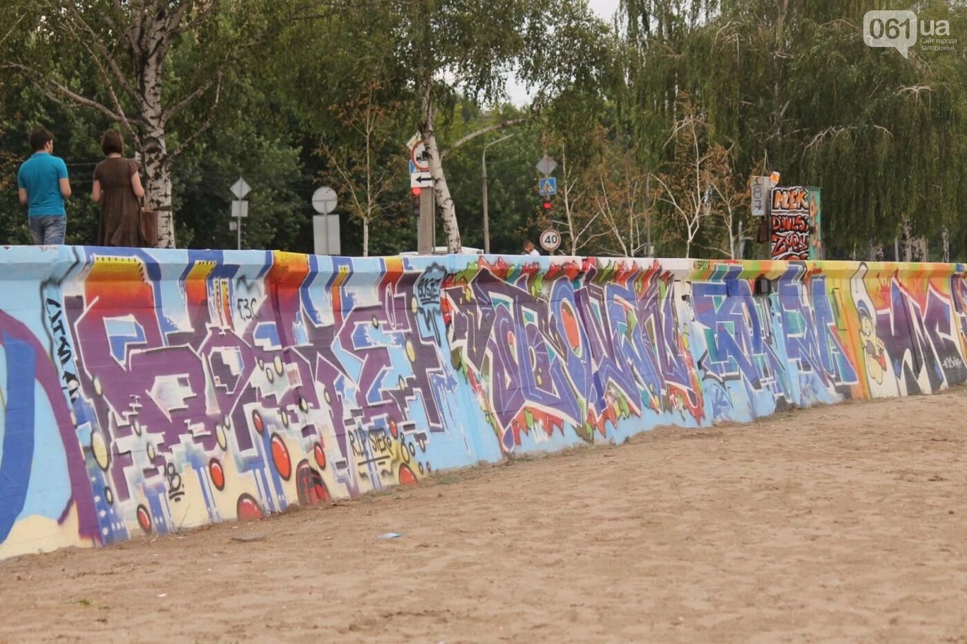 В Запорожье на пляже закончился фестиваль граффити: разрисовали 150 метров бетонной стены, – ФОТОРЕПОРТАЖ, фото-17