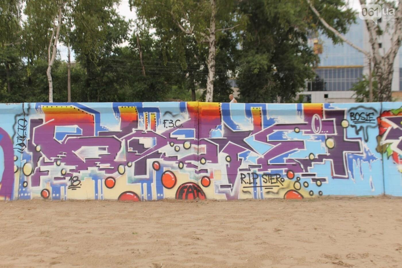 В Запорожье на пляже закончился фестиваль граффити: разрисовали 150 метров бетонной стены, – ФОТОРЕПОРТАЖ, фото-14