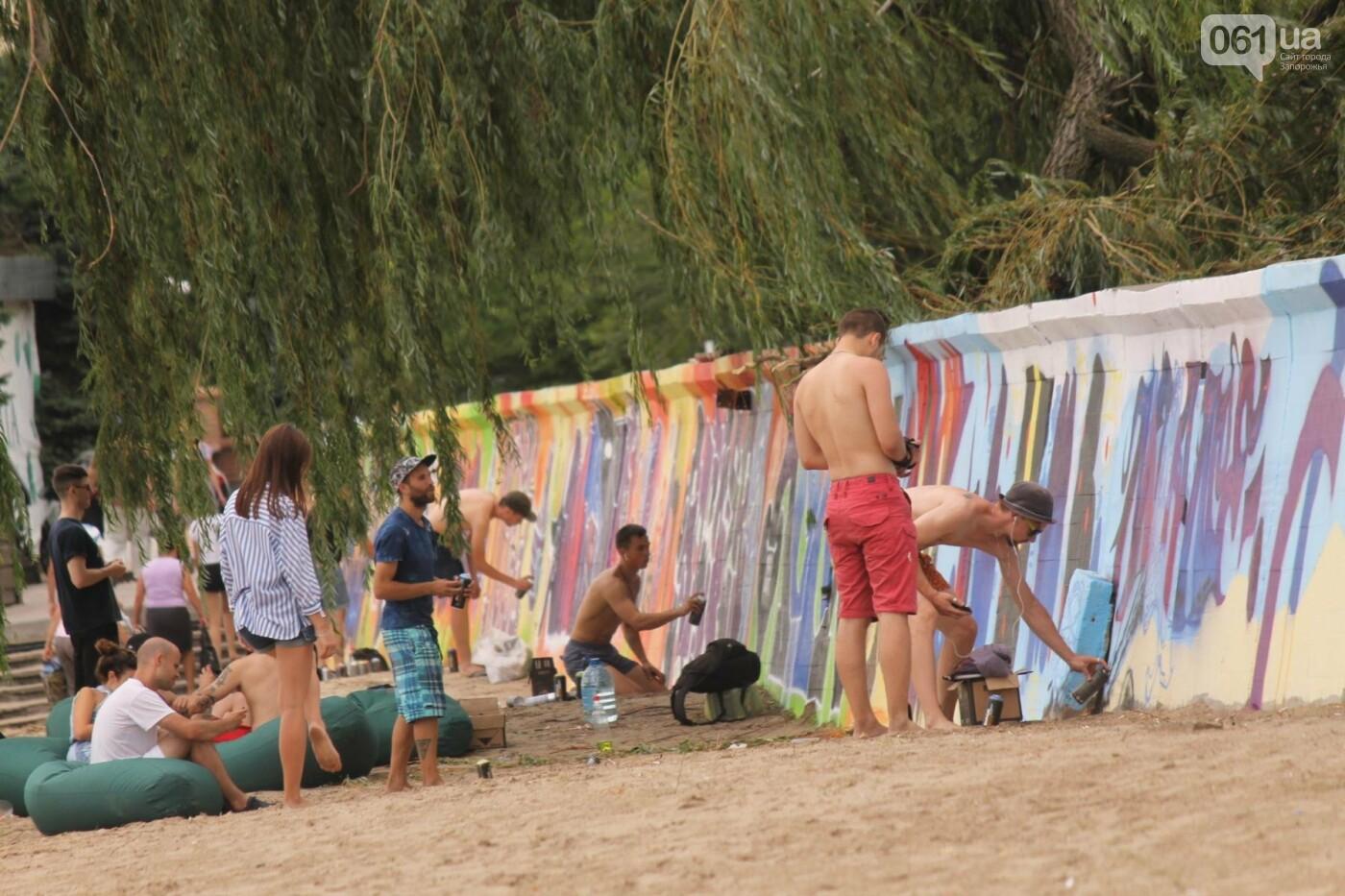 В Запорожье на пляже закончился фестиваль граффити: разрисовали 150 метров бетонной стены, – ФОТОРЕПОРТАЖ, фото-24