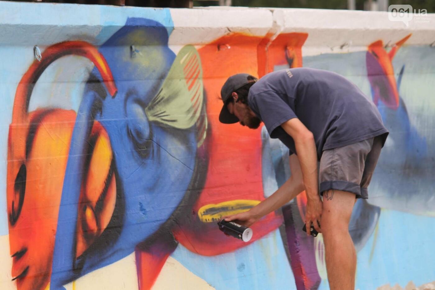 В Запорожье на пляже закончился фестиваль граффити: разрисовали 150 метров бетонной стены, – ФОТОРЕПОРТАЖ, фото-26