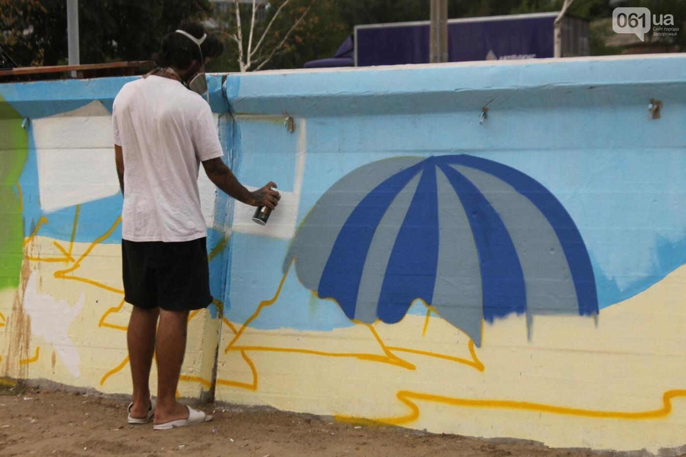 В Запорожье на пляже закончился фестиваль граффити: разрисовали 150 метров бетонной стены, – ФОТОРЕПОРТАЖ, фото-28