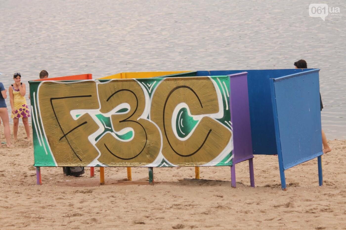 В Запорожье на пляже закончился фестиваль граффити: разрисовали 150 метров бетонной стены, – ФОТОРЕПОРТАЖ, фото-48